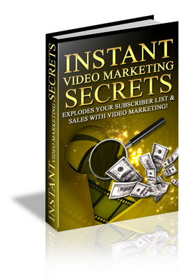 Product picture Instant Video Marketing Secrets.Earn cash with easy tricks